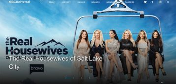 An image featuring the homepage of the NBC Universal website