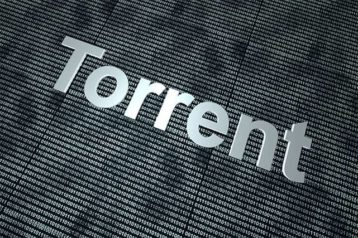 An image featuring a gray background with a white text in the middle that says Torrent