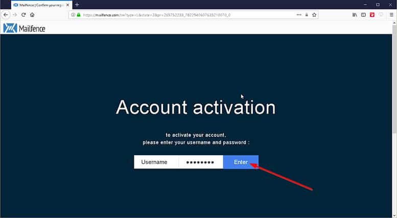 An image featuring how to create an account in Mailfence step 4