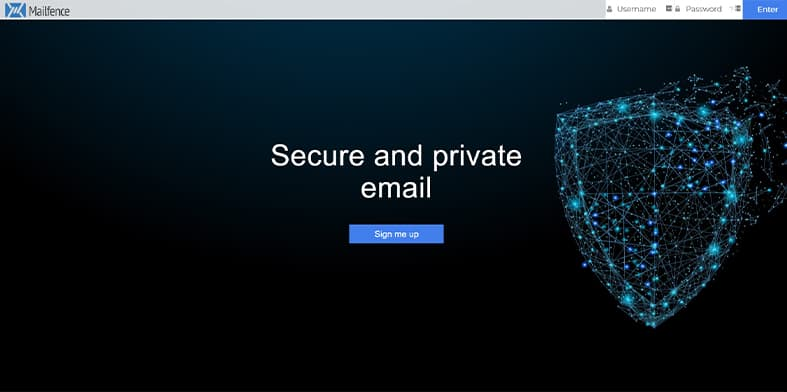 Mailfence homepage