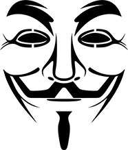 An image featuring a vendetta representing a hacker