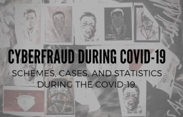 An image featuring cyberfraud during covid-19 schemes, cases and statistics