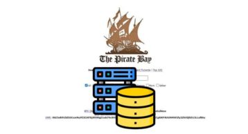 An image featuring the homepage of thepiratebay website with database maintenace icons on it representing database maintenace on a website