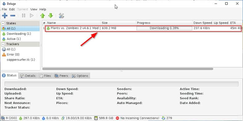 An image featuring how to download a torrent file while using the pirate bay step11a