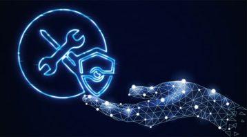 An image featuring an antivirus concept logo