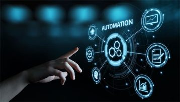 An image featuring automation software technology process system business concept