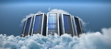An image featuring multiple servers being on a cloud representing cloud servers