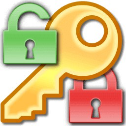 An image featuring two locks that are green and red and a yellow key in the middle of them