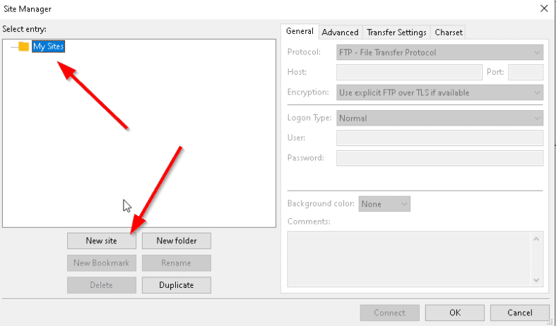 An image featuring how to set up FileZilla step5