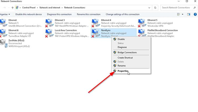 An image featuring Split Tunneling via Windows 10 step4