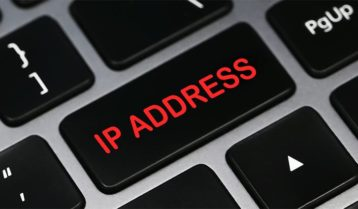 An image featuring a keyboard that has a key that says IP Address with red text on it