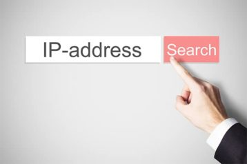 An image featuring a person searching an IP address