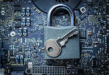 An image featuring a lock with a key on top of it representing privacy laws