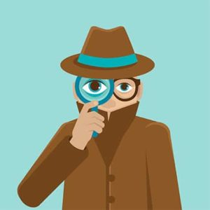 An image featuring a cool drawn person representing tracking privacy concept