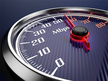 An image featuring an internet speed test concept