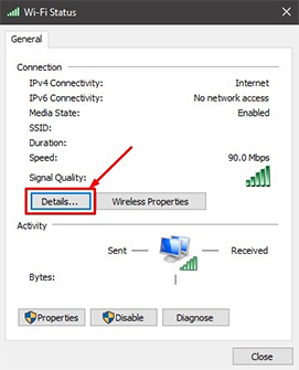 An image featuring how to find Your MAC address on Windows method1 step4