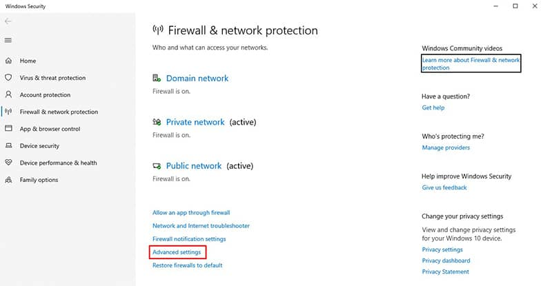 An image featuring how to access 127.0.0.1 from another computer using Windows FireWall step2