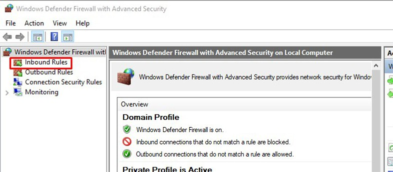 An image featuring how to access 127.0.0.1 from another computer using Windows FireWall step3