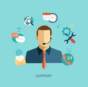 An image featuring customer support concept