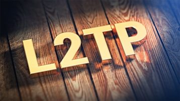 An image featuring L2TP text representing Layer 2 Tunnel Protocol VPN concept