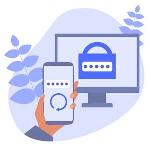 An image featuring two factor authentication by RSA concept