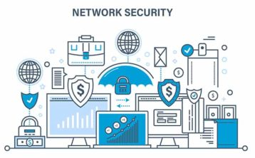 An image featuring network security concept