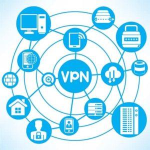An image featuring VPN diagram concept