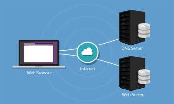 An image featuring DNS server concept