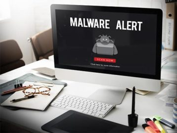 An image featuring malware alert concept