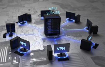 An image featuring a VPN server concept