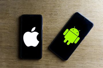 An image featuring iOS and Android next to each other concept