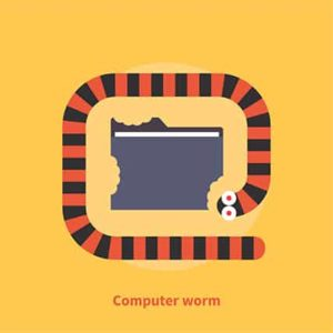 An image featuring computer worm infection concept