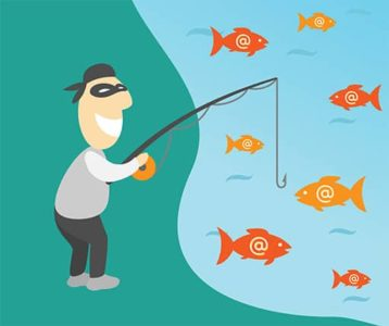 An image featuring a hacker phishing concept