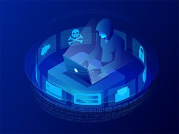 An image featuring hacker server concept
