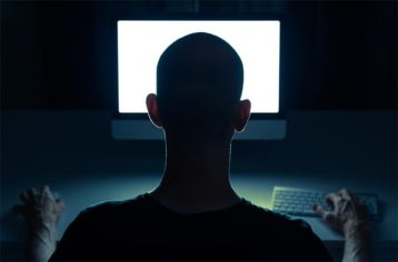 An image featuring online stalking concept