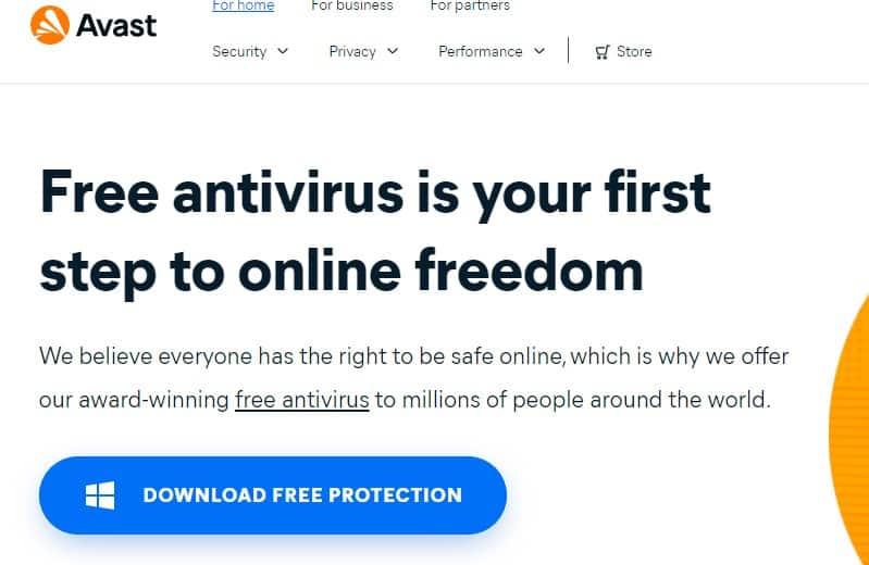 An image featuring Avast antivirus