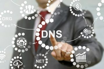An image featuring DNS data concept