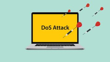 An image featuring DoS attack concept
