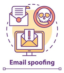 An image featuring a email spoofing attack concept
