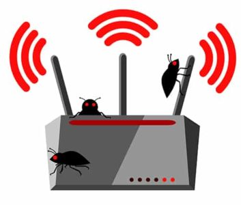 An image featuring compromised router concept