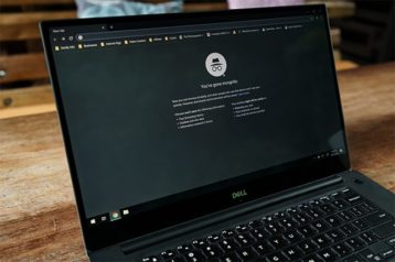 An image featuring a laptop that is using the incognito mode concept