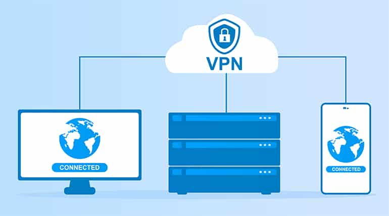 An image featuring how a VPN works concept