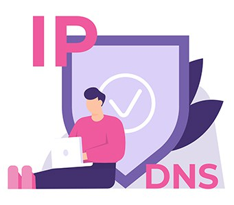 An image featuring IP DNS concept