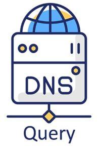 An image featuring DNS query concept