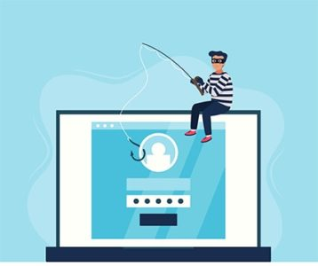 An image featuring phishing attack concept