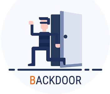 An image featuring backdoor attack concept