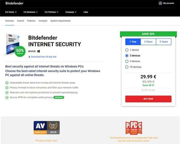 An image featuring Bitdefender antivirus