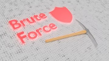 An image featuring a brute force attack concept