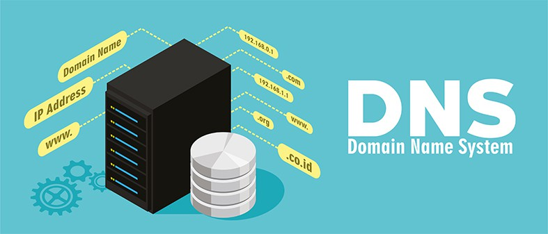 An image featuring DNS concept