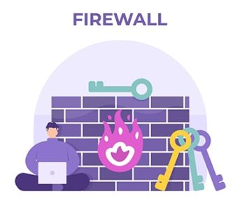 An image featuring firewall protection concept